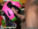 Sporty girl gets fucked on her quad