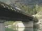 Jumping from a bridge from a car
