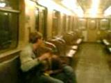 A subway blowjob