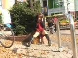 Japanese girl fingers herself in public