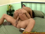 Hot Spanish slut riding on a big dick