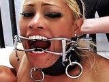 Muscular Mistress Punishes Blonde Hot Slave