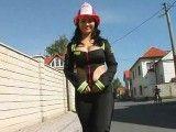 Busty Firewoman