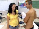 Sexy school girl fucks her teacher
