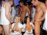 Crazy hardcore sex orgy in a club