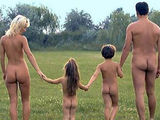 Hot day on nudist camping