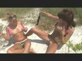 Drunk chicks at the beach