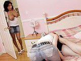 Hot Milf walks in on her daughter