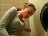 Amateur masturbating on the toilet