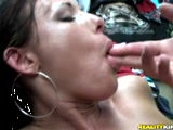 Sexy Vanessa fucked in a closed shop
