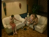 Threesome recorded by hidden cam