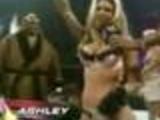 Wrestling girls doing a strip
