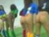 Sexy Half Naked Girls playing soccer!