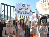 Caught protesting Topless in Ukraine