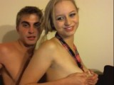 Blonde cutie getting fucked in the ass