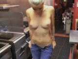Stevie strips naked and gives a tug job