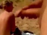 Public wanker surprises girl on nudist beach