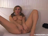 Cam: sexy sweet blonde sexy girl playing 2 .flv