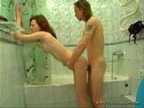 Russian Liza in Bathroom