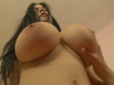 Brunette with amazing natural tits fucked!