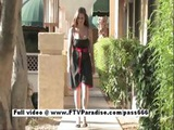 Danielle Superb Redhead Girl Walks In A Garden