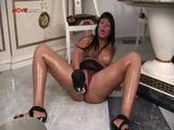 Busty Horny Slut Working On A Huge Dildo Part4