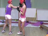 Domina Boxers Beat And Tie Up Their Instructor After Match