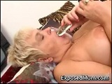 Nasty Mom Playing With DilDO