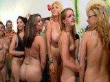Drunk girls lined-up for cock