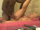 Blonde amateur teen taking a white cock