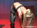 Busty Stripper On Stage Masturbating With Toy