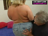 Lovely Sporty Bbw Blond Fat Ass Part 1