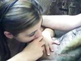 Brunette Naomi Sucking An Old Dudes Stiff Cock