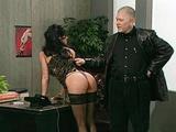 Office submissive slut spanked like hell
