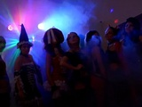 Russian Halloween sex party