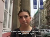 Czech Girl Julie Getting Paid For Giving Blowjob And Hardcore Sex In Public