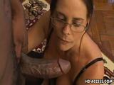 Hot Mom Cheyenne Hunter Takes Messy Cumshot After An Interracial Blowjob