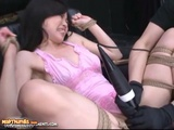 Tied Up Japanese Slave Gets Pussy Vibrated With Hot Sauce