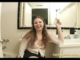 Casting bunyn sucking two cocks at the toilet hard