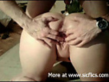 Fist fucking my wifes sloppy holes till she orgasms