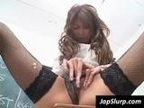 Asian schoolgirl rub pussy