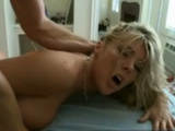 Moaning busty blonde fucked super hard on cam