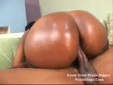 Her black ass is shiny and oily.......