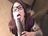 Interracial punk tattooed slut