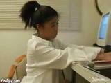 Asian Office Slut Plays Dirty With Photocopier Then Gets Fucked By Boss