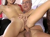 Nasty Grandpa Gets A Taste Of Tight Young Pussy