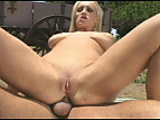 Beautiful Blonde Gets Pounded Outside