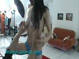 Lapdance And Blowjob By Brunette Girlfriend