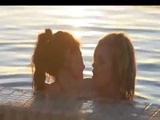 Lesbians Licking Holes Next To Pool