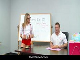 Innocenthigh Young Blonde Schoolgirl Bailey Blue Classroom Sex